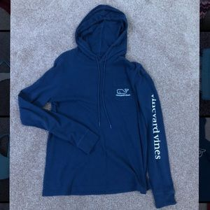 Long sleeve navy blue vineyard vines hoodie